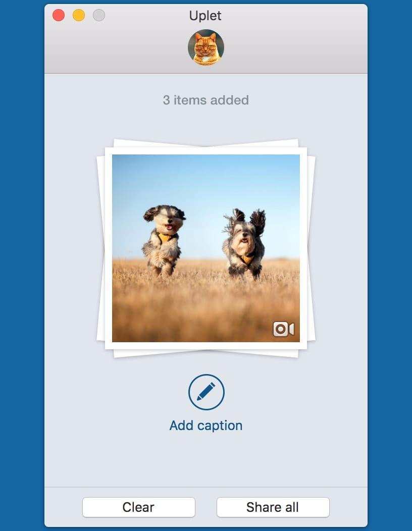 Instagram video uploader for Mac - Uplet app